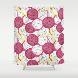 Exotic Dragonfruit Shower Curtain