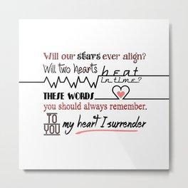 My Heart I Surrender - I Prevail Metal Print