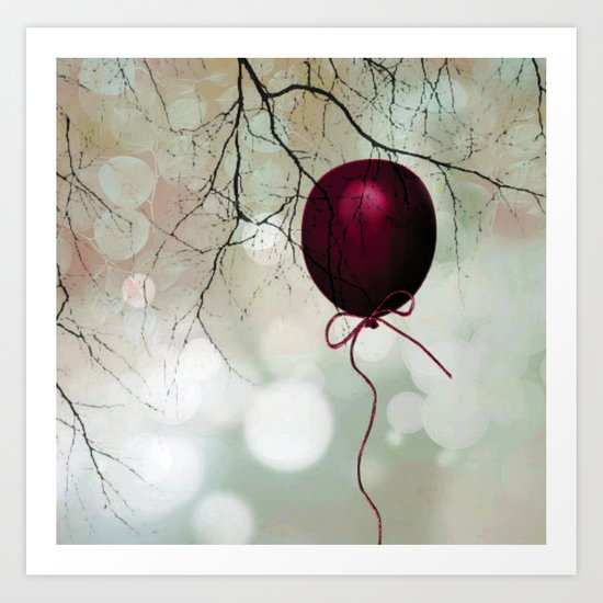Fly balloon  Art Print