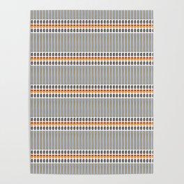 Geometric Stripes Seamless Vector Pattern Art Deco Poster