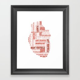 Anatomical Heart Typography Framed Art Print