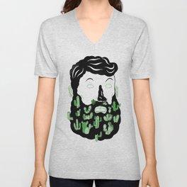 Cactus Beard Dude Unisex V-Neck
