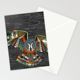 night owl charcoal Stationery Cards