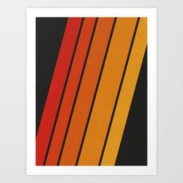 Retro 70s Stripes Art Print
