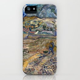 Vincent Van Gogh - Landscape at Saint Remy iPhone Case