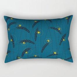 Fireflies in a field Rectangular Pillow
