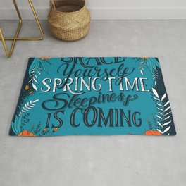 Brace yourself spring time sleepiness is coming, blue Rug