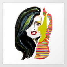 Fashion face woman portrait Art Print