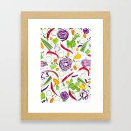 Vegetables pattern (5) Framed Art Print