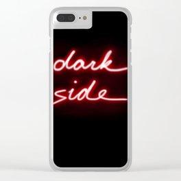 Dark Side Neon Clear iPhone Case