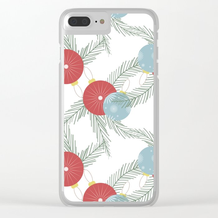 Christmas balls Clear iPhone Case