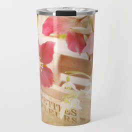 Romantik pink flower still life Travel Mug