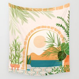 Baja California Villa Wall Tapestry