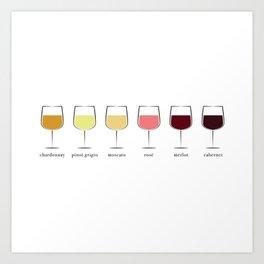 Wine Spectrum Art Print