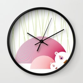 Porcupines Wall Clock