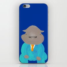 Napping Mr.Hippo iPhone & iPod Skin