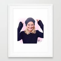 amy poehler Framed Art Prints featuring Amy Poehler by kelsey cooke art