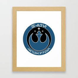 Blue Squadron (Resistance) Framed Art Print