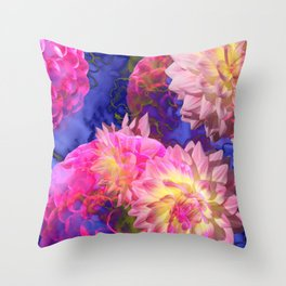 Floral Trip Throw Pillow