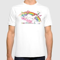 Unicorn: Destroyer of Ponies! MEDIUM White Mens Fitted Tee