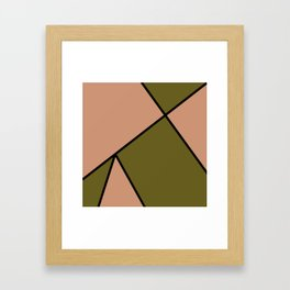 Antique Brass and Antique Bronze Abstract Pattern Framed Art Print