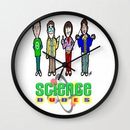 The Big Bang Theory Guys...  Cartoon Science DUDES! Wall Clock