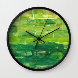 Green World by Australian Artist Vidy Potdar Wall Clock