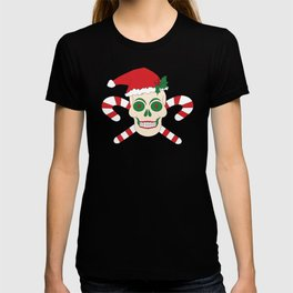 Creepy Christmas Santa Skull T-shirt