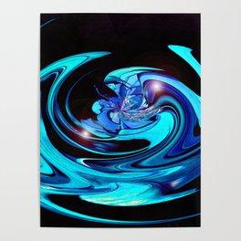 """Cut Blue Diamond""  Poster"