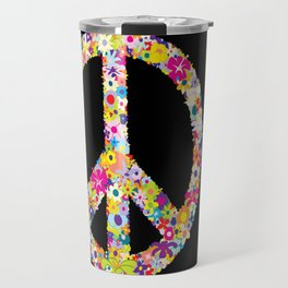 Peace Flowers Travel Mug