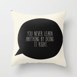Learning Throw Pillow