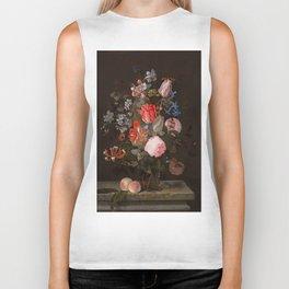 "Adriaen van der Spelt ""Still life of flowers on a stone ledge"" Biker Tank"