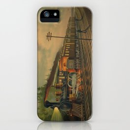 Night Scene on the NY Central Railroad (1884) iPhone Case