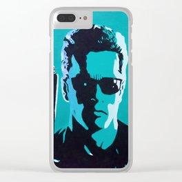 Terminator 2 - blue Clear iPhone Case