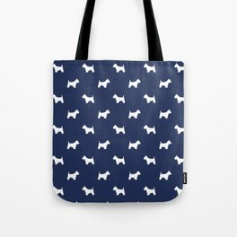 West Highland Terrier dog pattern minimal dog lover gifts red and white Tote Bag