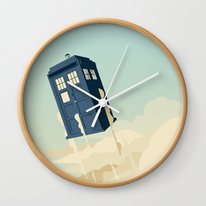 Time to Fly Wall Clock