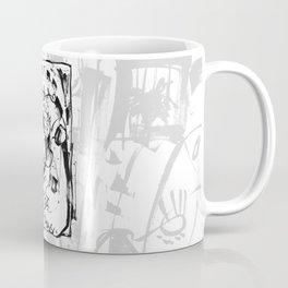 Caged Bird - b&w Coffee Mug