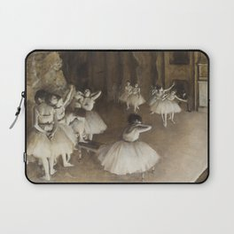 Ballet Rehearsal on Stage Laptop Sleeve