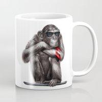 ape Mugs featuring Genius Ape by beart24