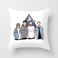 bastille Throw Pillows featuring bastille by Phastille