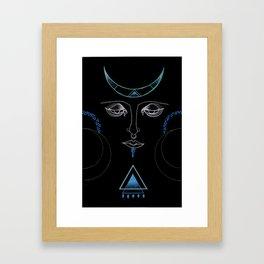 Crescent Goddess Framed Art Print