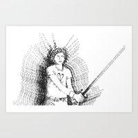 michael scott Art Prints featuring Scott Pilgrim VS. Typography by kayability