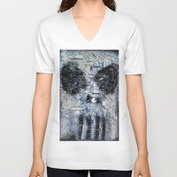 punisher V-neck T-shirts featuring THE PUNISHER by JANUARY FROST
