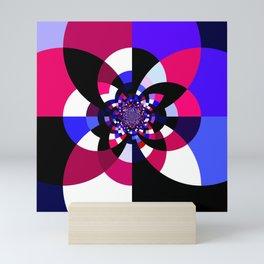 Magenta Purple Indigo Kaleidoscope Mandala Mini Art Print