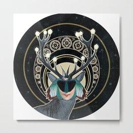 God of Light Metal Print