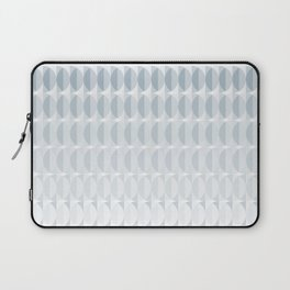 pattern leaves in the mist (ice gray) Laptop Sleeve