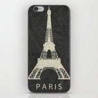 paris iPhone & iPod Skins featuring Paris by NJ-Illustrations