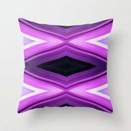 stripes wave pattern 6v2 std Throw Pillow