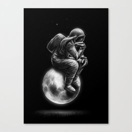 Space Thinker Canvas Print