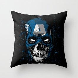 Captain Skull Throw Pillow